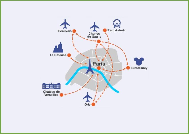 mappa aeroporti di parigi