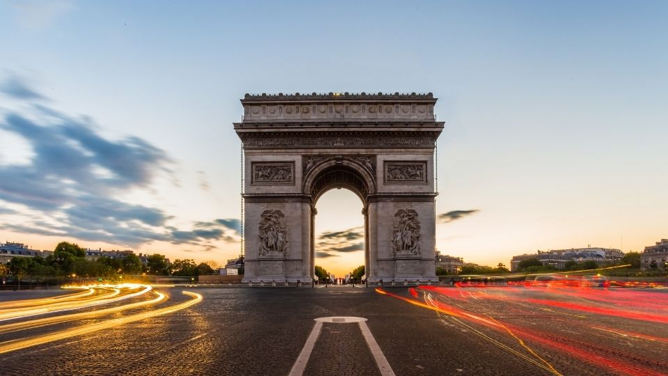 Arco di Trionfo di Parigi time lapse